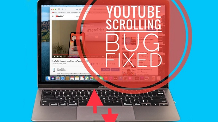 YouTube scrolling bug in macOS Big Sur