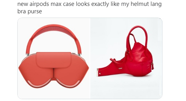 airpods max bra purse meme
