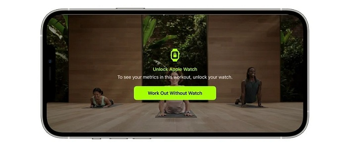 fitness+ workout on iPhone without Apple Watch