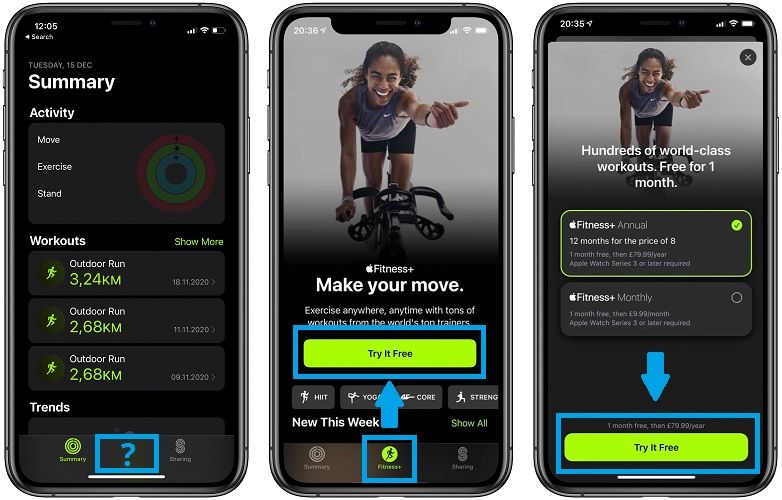 how to subscribe for Apple Fitness+ free trial