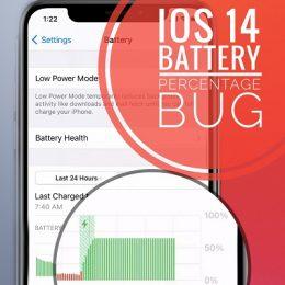 iOS 14 battery percentage bug