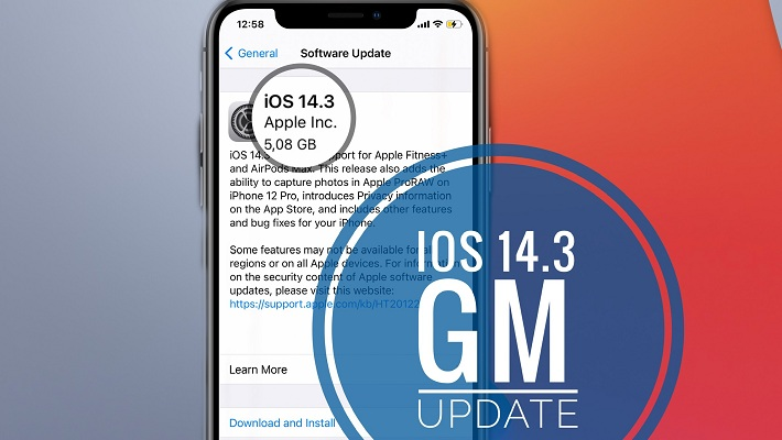 iOS 14.3 GM update