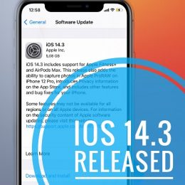 iOS 14.3 Released by Apple