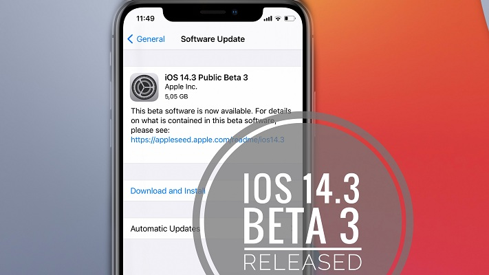 ios 14.3 beta 3 update