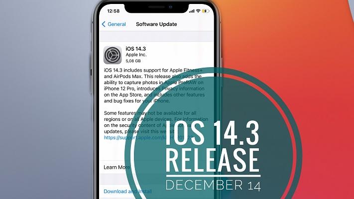 ios 14.3 release date