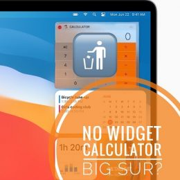 no calculator widget in macOS Big Sur