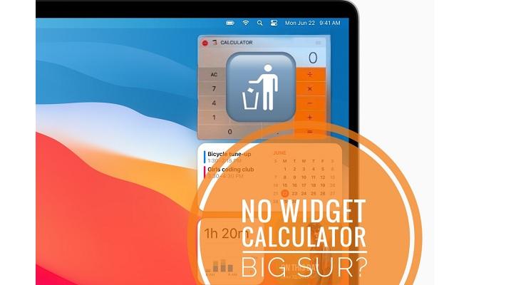 no calculator widget in macOS Big Sur