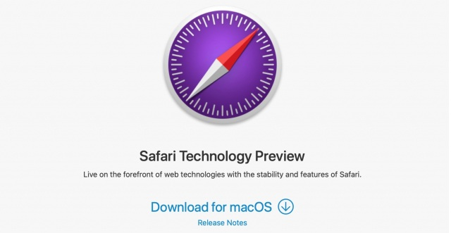 safari technology preview for macOS Big Sur