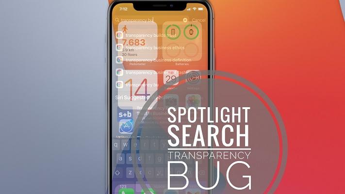 spotlight search transparency bug