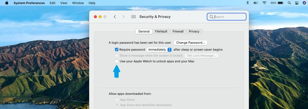 unlock mac with apple watch setting