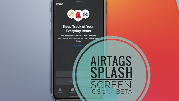 AirTags splash screen in iOS 14.4 beta