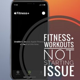 fitness+ workout not starting