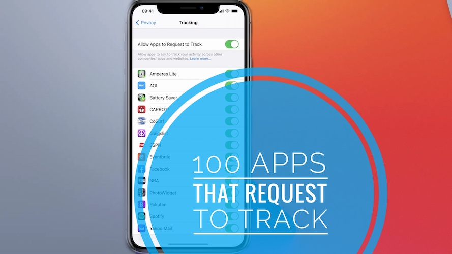 100 Apps That Request To Track