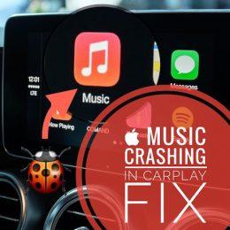 Apple Music. crashing in CarPlay