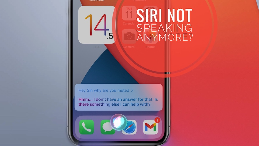 Siri doesn't speak on iPhone