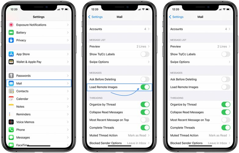 how to block email tracking on iphone