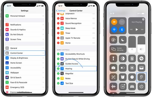 how to live listen on iphone