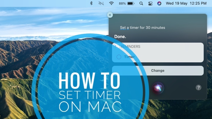 how to set timer on mac