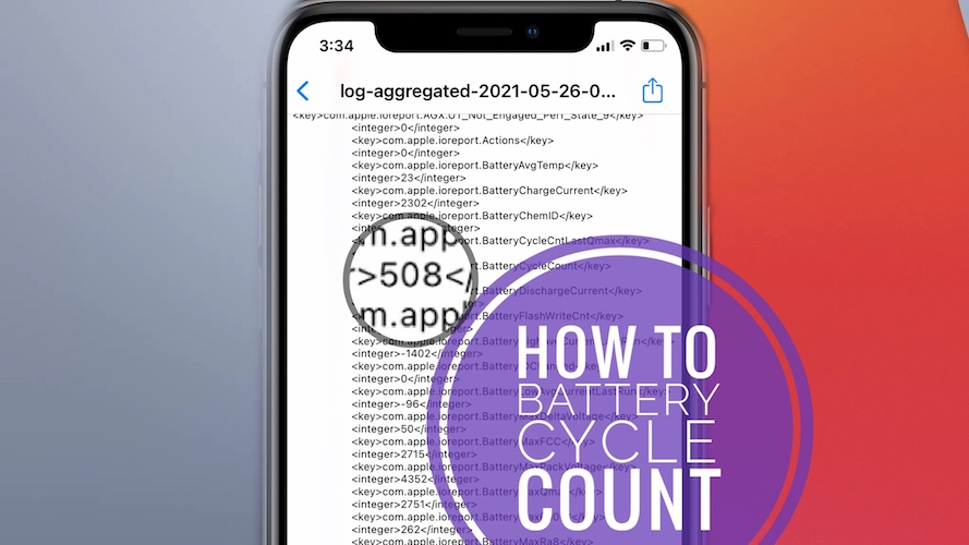 iPhone battery cycle count