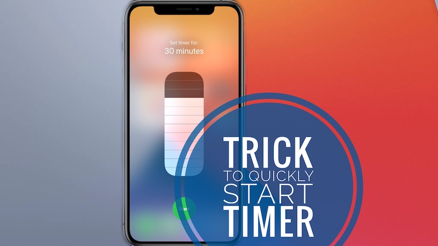 start timer from control center