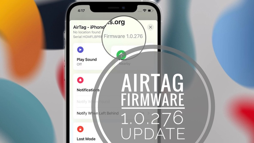 AirTag Firmware Update 1.0.276