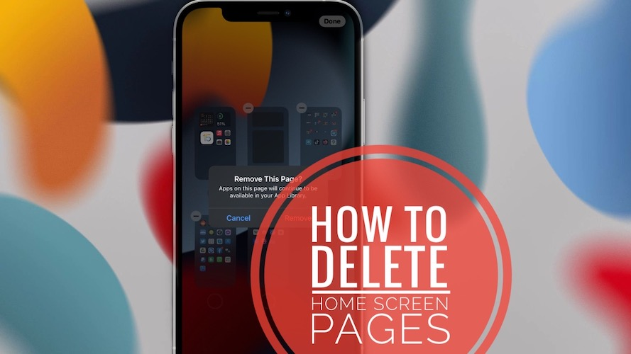 How to Delete Home Screen Pages