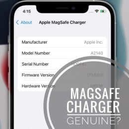MagSafe Model Number in Settings