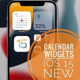 New Month Calendar widget in iOS 15