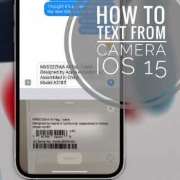 Text from Camera on iPhone