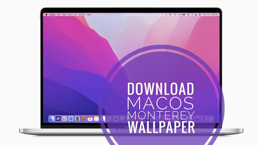 download macOS Monterey wallpaper