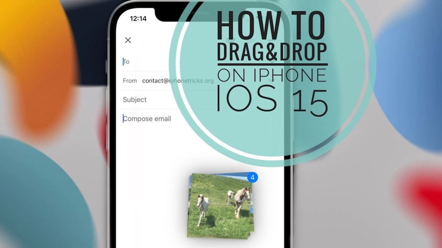 drag and drop files on iPhone