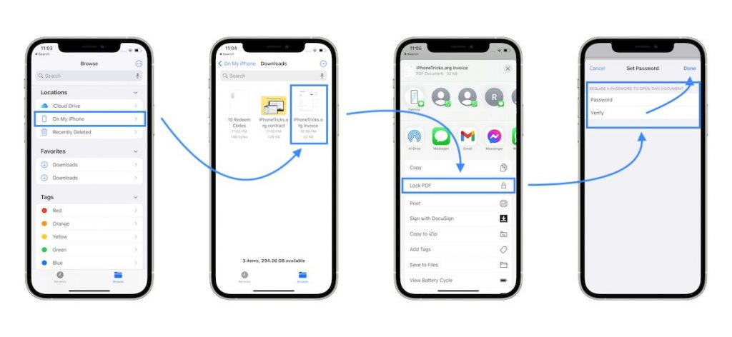 how to Lock PDF on iPhone