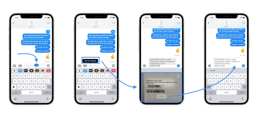 how to Text from Camera on iPhone