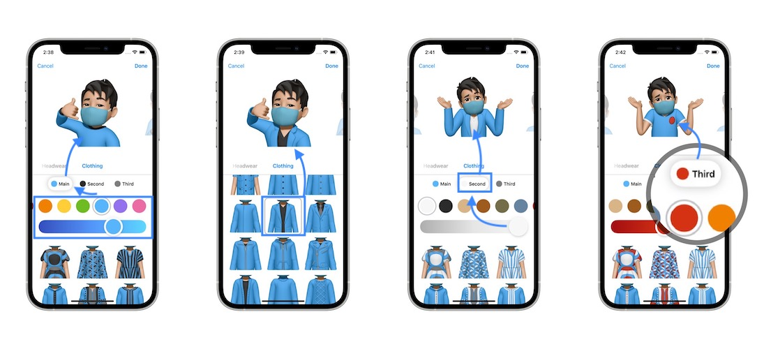 how to change memoji clothes and colors
