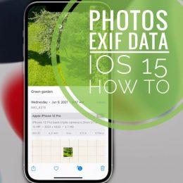how to check Photos EXIF data