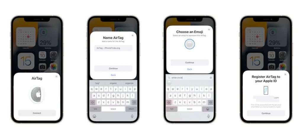 how to connect AirTag to iPhone