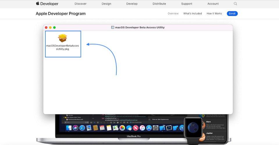 how to download macOS Monterey beta profile