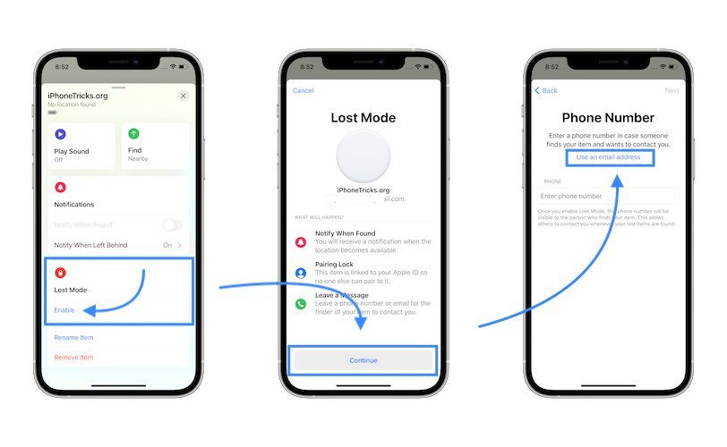 how to enable AirTag Lost Mode