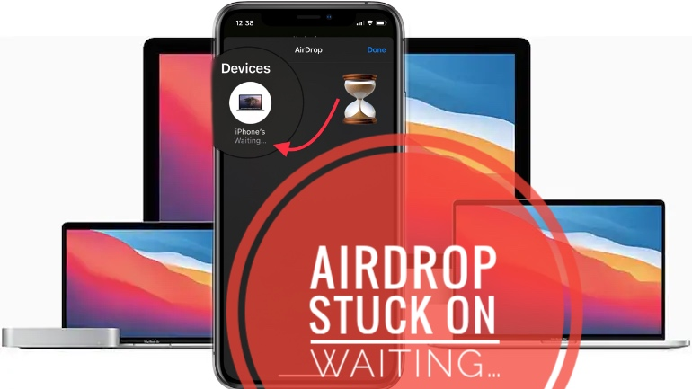 how to fix AirDrop stuck on Waiting