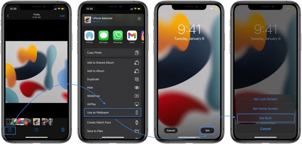 how to install ios 15 wallpaper