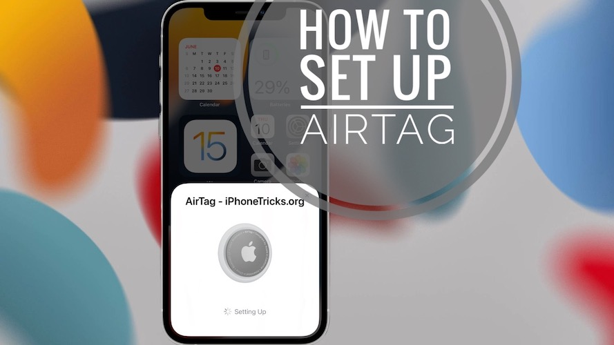 how to set up AirTag