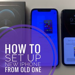 how to set up new iPhone from old one