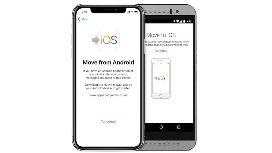 how to set up new iphone from android