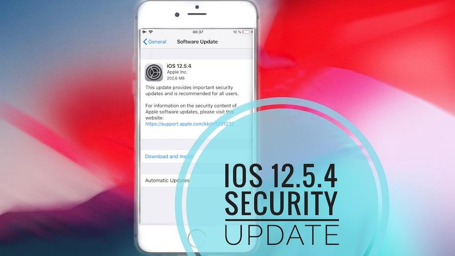 iOS 12.5.4 security update