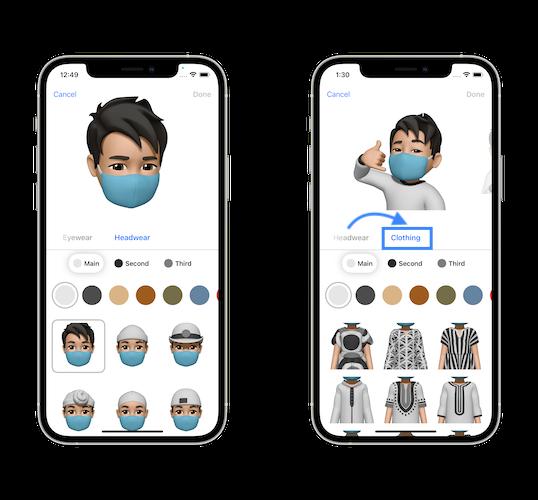 iOS 15 Beta 2 Memoji Clothing feature