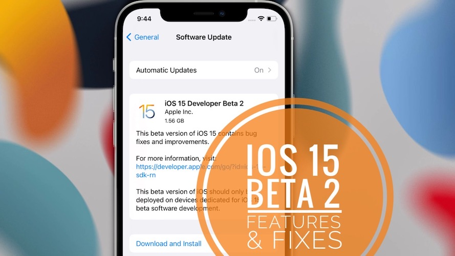 iOS 15 Developer Beta 2