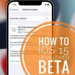 iOS 15 Developer Beta Software Update