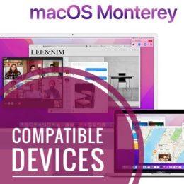 macOS Monterey compatible Macs