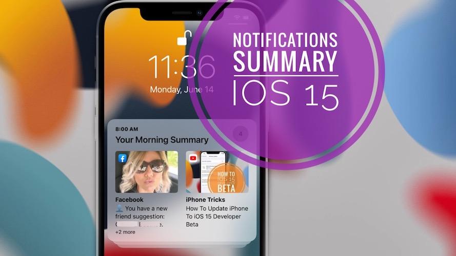 notification summary on iPhone in iOS 15