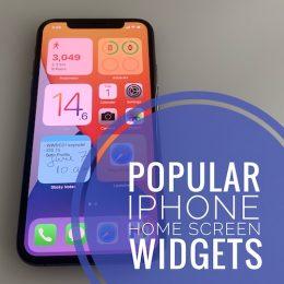 popular iPhone Home Screen widgets